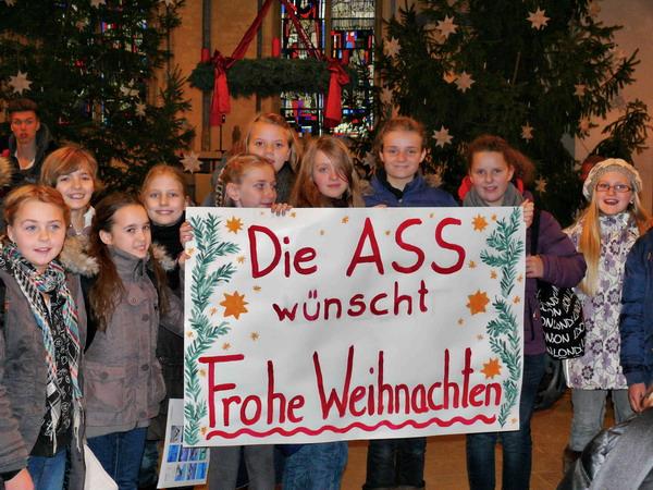 An Tagen wie diesen feiert die Albert-Schweitzer-Schule ihre Weihnachtsandacht in St. Martin