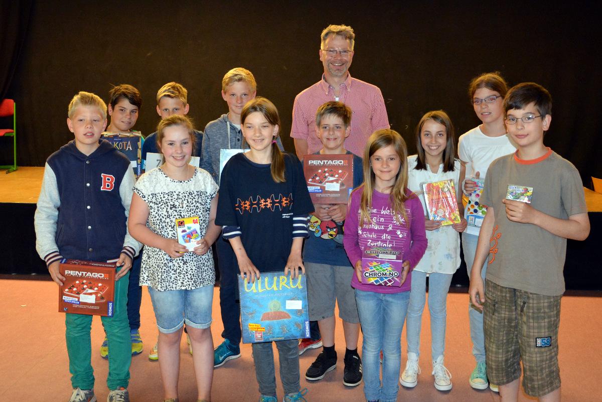 Siegerehrung Kängaru-Wettbewerb 2015