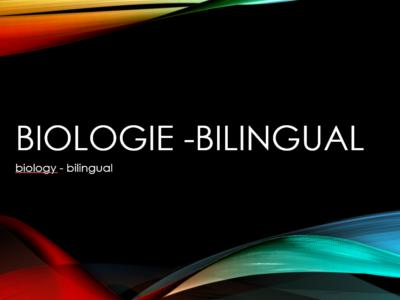 Biologie-Bilingual
